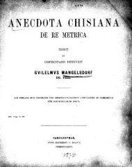 Anecdota Chisiana de re metrica [microform]