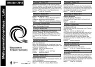 Programm Bürgerzentrum Treffpunkt Stadtmühle Oktober 2013