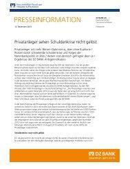 Presseinformation vom 12. Dezember 2013 - DZ Bank