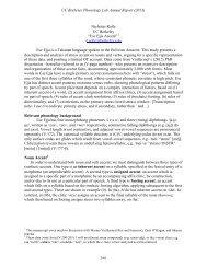 268-280 - Linguistics - University of California, Berkeley