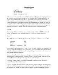 Music and Language Summer 2012 Greg Finley finley ... - Linguistics