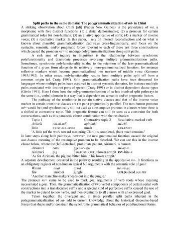lit paths in - Linguistics