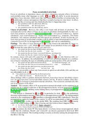 Focus on embedded adverbials Focus on adverbials in ... - Linguistics