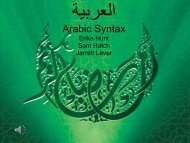 Arabic Syntax - BYU Department of Linguistics and English Language