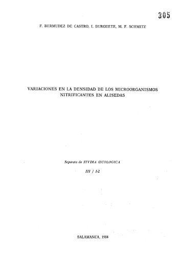 f. bermudez de castro, i. burguete, mf schmitz - Universidad ...