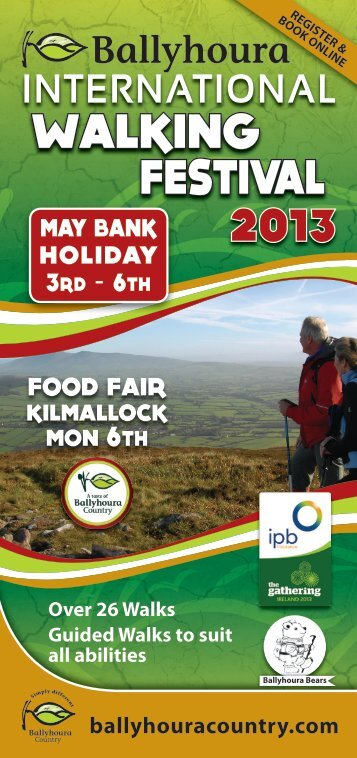 Ballyhoura International Walking Festival Brochure 2013 - Limerick.ie