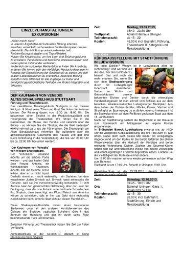 VHS Einzelveranstaltungen (pdf)