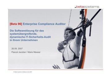 [Beta 96] Enterprise Compliance Auditor