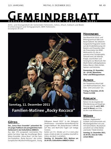 GBM2011 Woche 49 - Gemeinde Mäder