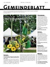 GBM2013 Woche 20 - Gemeinde Mäder