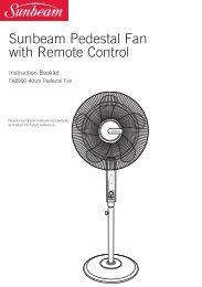 Sunbeam Pedestal Fan with Remote Control - Appliances Online