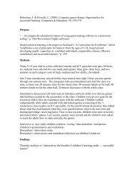 Robertson, J. & Howells, C. (2008). Computer games design ...