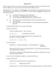 Homework # 5 For this week's homework, we will revisit some old ...