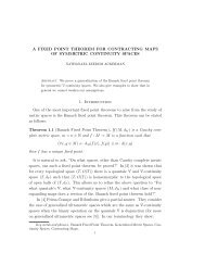 A FIXED POINT THEOREM FOR CONTRACTING MAPS OF ...