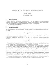 Lecture 28: The fundamental theorem of calculus