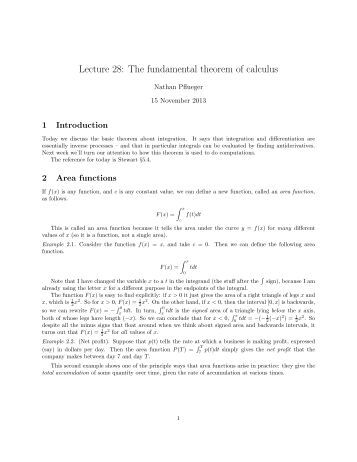 Worksheets Fundamental Theorem Of Calculus Worksheet worksheet 5 2 the fundamental theorem of calculus using lecture 28 calculus