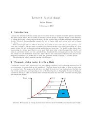 2. Average rate of change