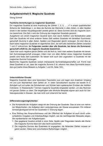 6. Rechteck und Quadrat – Lösungen - Österreichischer ...