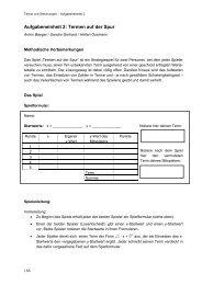 Aufgabeneinheit 2: Termen auf der Spur