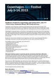 Headliners revealed for Copenhagen Jazz Festival 2013 ... - Cision