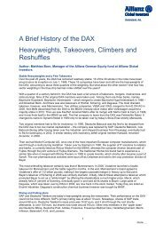 A Brief History of the DAX Heavyweights, Takeovers ... - Cision