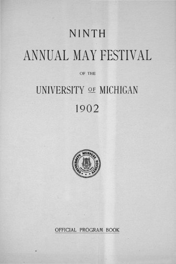 ANNUAL MAY FESTIVAL - Ann Arbor District Library