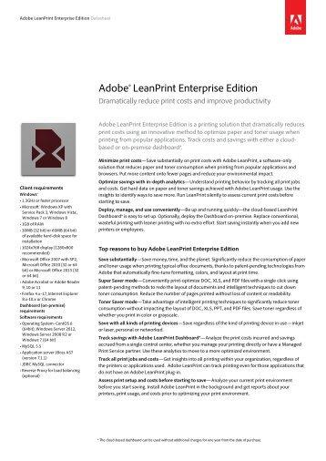 Adobe® LeanPrint Enterprise Edition - Brintex