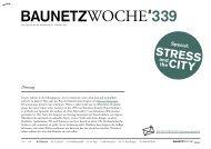 Stress and the City - BauNetz