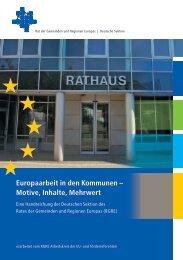 Europaarbeit in den Kommunen – Motive, Inhalte, Mehrwert - Essen