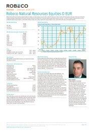 Robeco Natural Resources Equities D EUR - Fundinfo