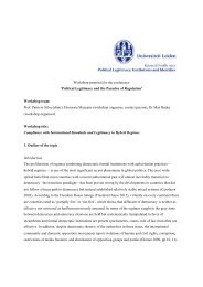 Compliance with International Standards and Legitimacy in Hybrid ...