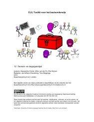 CLIL Toolkit voor het basisonderwijs 12. Termen- en begrippenlijst