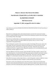 Wall Street Journal September 2013 interview with Marinus van ...