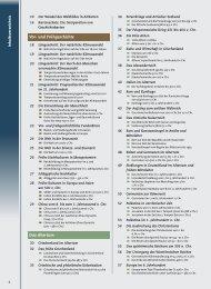 Inhaltsverzeichnis Vor- und Frühgeschichte Das Altertum