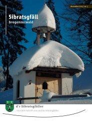Klicken - Gemeinde Sibratsgfäll