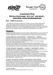 Rom 28.10.2013 Programm PNPx - Passauer Neue Presse