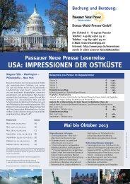 USA: IMPRESSIONEN DER OSTKÜSTE - Passauer Neue Presse