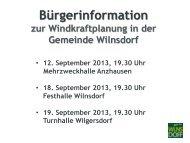 Windkraftplanung in der Gemeinde Wilnsdorf