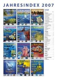 Jahresindex 2007 – Unterwasser.de