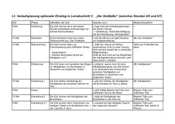 Verlaufsplanung opti.. - Medienwissenschaft Universität Bayreuth