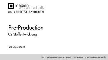 Charaktere - Medienwissenschaft Universität Bayreuth