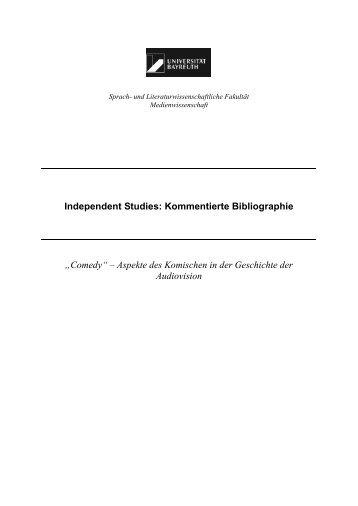 Kommentierte Bibliographie - Medienwissenschaft Universität ...