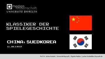China,Suedkorea Klassiker der Spielegeschichte