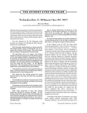 Editor: Dr. NG Mojumdar!! Years 1967– 1969!!! - medIND