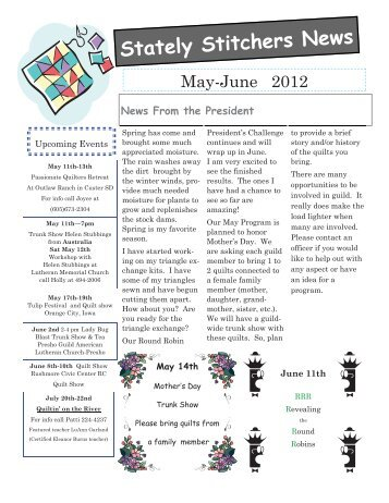 May June newsletter 2012 - Webs