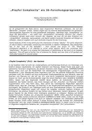 """""""Playful Complexity"""" als ID-Forschungsprogramm"""