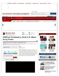 Michael Giltz: OMD at Terminal 5, First U.S. Show in 23 Years