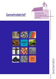 Gemeindebrief 2013 Juni/Juli - Evangelische Kirchengemeinde ...