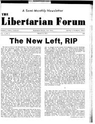 The New Left: R.I.P. - Ludwig von Mises Institute
