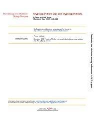 Cryptosporidium spp. and Cryptosporidiosis - Microbiology and ...